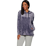 AnyBody Loungewear Velour Hooded Sweatshirt - A297298