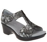 Alegria Leather Sandals w/ Adjustable Straps - Riki - A303998