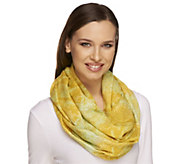 As Is Isaac Mizrahi Live! 28 x 66 Colorful Snake Infinity Scarf - A308698
