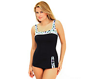 Fit 4 U Cs A Lot 2 Like Retro Sheath with Buttons Swimsuit - A332198
