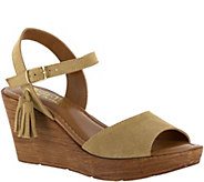 Bella Vita Leather or Suede Wedge Sandals withTassel - Ali - A356698