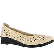 Easy Street Perforated Slip-on Closed Toe Wedges - Mable - A356798