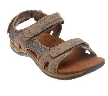 Earth Origins Suede Sandals with Adj. Straps - Swift