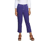 Liz Claiborne New York Hepburn Crop Denim Jeans - A253499