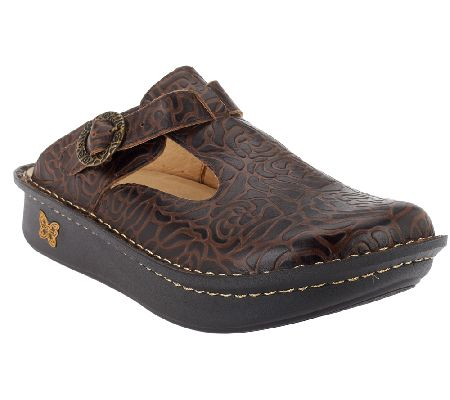 Alegria Classic Leather T-Strap Clogs - A255299