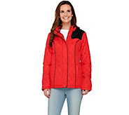 Dennis Basso Water Resistant Quilted Jacket with Zip Out Hood - A262599