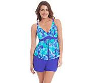 Liz Claiborne New York Flyaway Tankini and Shorts Swimsuit - A263699