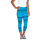 cee bee CHERYL BURKE Ombre Printed Crop Pants - A264199
