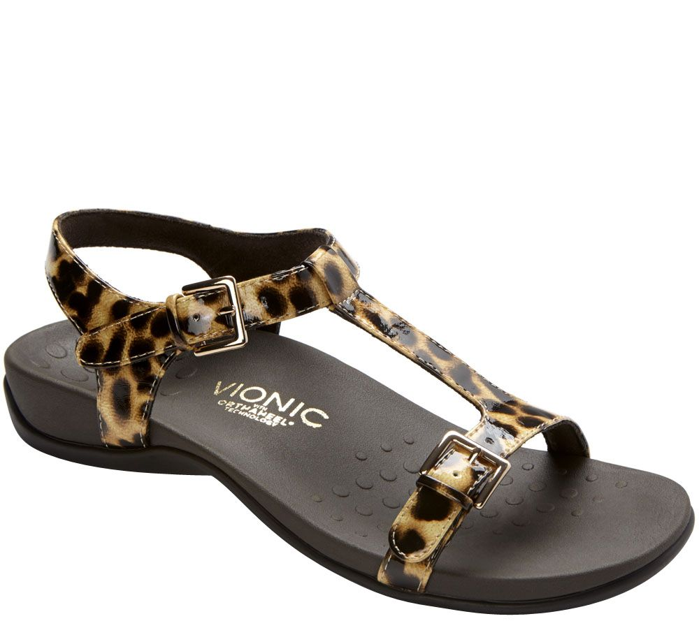 Vionic Orthotic T-strap Sandals - Adriane