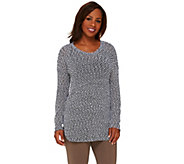 Lisa Rinna Collection Long Sleeve Textured Knit Tunic with Cami - A265399