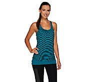 cee bee CHERYL BURKE Striped Layered Tank with Side Ruching - A268599