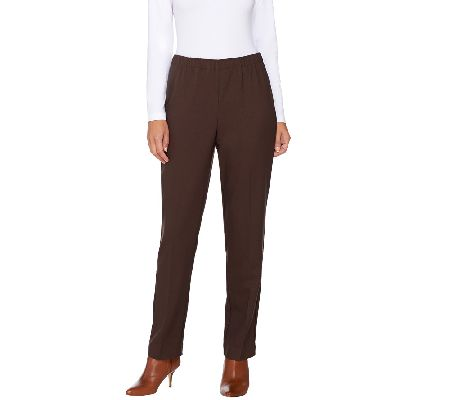 Susan Graver Twill Comfort Waist Pull-On Pants - A269299
