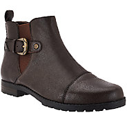 Earth Origins Leather Chelsea Boots w/ Buckle Detail - Finley - A270099