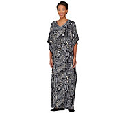 As Is Joan Rivers Regular Length Paisley Jersey Knit Caftan - A272799