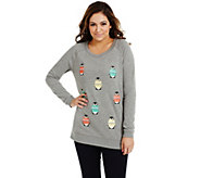 Bethany Mota Long Sleeve Penguin Holiday Sweatshirt - A273799