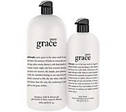 philosophy pure grace mega-size shower gel & body lotion duo - A275999