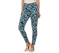LOGO by Lori Goldstein Camo Printed Leggings - A276799