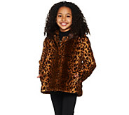 Dennis Basso Childrens Animal Print Faux Fur Jacket - A287499