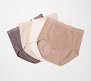 Breezies Set of 4 Nylon Microfiber Brief Panty - A287799