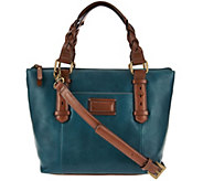 As IsVintage Tignanello Leather RFID Mini Tote with Braided Handles - A288199