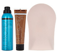 St. Tropez Express Tan Mist & Body Gloss with Mitt - A290999