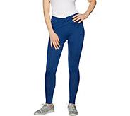 cee bee CHERYL BURKE Melange Knit Wrap Front Leggings - A292199