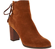 Vionic Suede Ankle Boots with Tie Detail - Ronnie - A293799