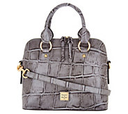 Dooney & Bourke Croco Embossed Leather Satchel Handbag -Cameron - A300499
