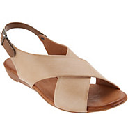 Miz Mooz Leather Cross Strap Sandals - Anya - A304599