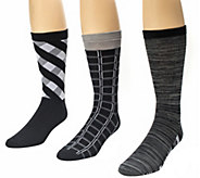 MUK LUKS Mens 3-Pair Crew Sock Pack - A337699