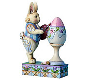 Jim Shore Heartwood Creek Bunny Painting EasterEgg Figurine - C213913