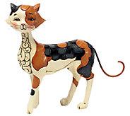 Jim Shore Heartwood Creek Walking Calico Cat Figurine - C214013
