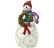 Jim Shore Heartwood Creek Snowman with Wreath - C214113