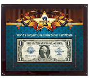 Worlds Largest Silver Certificate - C213715