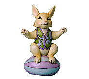 Jim Shore Heartwood Creek Mini Bunny on EasterEgg Figurine - C213915