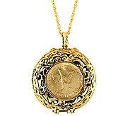 Mustard Seed Locket Angel Coin Pendant - C213719