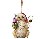 Jim Shore Heartwood Creek Christmas Cat with Gifts Ornament - C214121