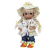 Precious Moments Raining Cats and Dogs Animal Lover Doll - C210822