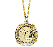 Gold-Layered Hummingbird Coin Pendant - C213729