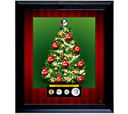 Personalized Family Framed Coin Christmas Tree - C214129