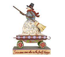 Jim Shore Heartwood Creek Christmas Train Snowman Figurine