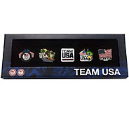 Team USA Set of 5 Decorative Olympic Pin Set in Display Box - C20138