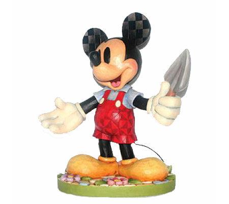 Jim Shore Disney Traditions Mickey Garden Statue