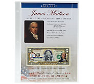 US Presidents Colorized $2 Bill Series Auto Delivery Madison - C27841