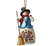 Jim Shore Heartwood Creek Winter Wonderland Snowman Ornament - C214245