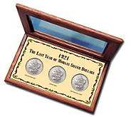 1921 Last Year Morgan Silver Dollar Mint Mark Collection - C212149