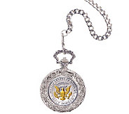 Selectively Gold-Layered Presidential Seal Pock et Watch - C213755
