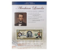 US Presidents Colorized $2 Bill Series - C27855