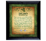 Irish Blessing with Two Three-Pence Wall Frame - C213957