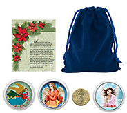 Christmas Angel Coins with Blue Pouch - C214157
